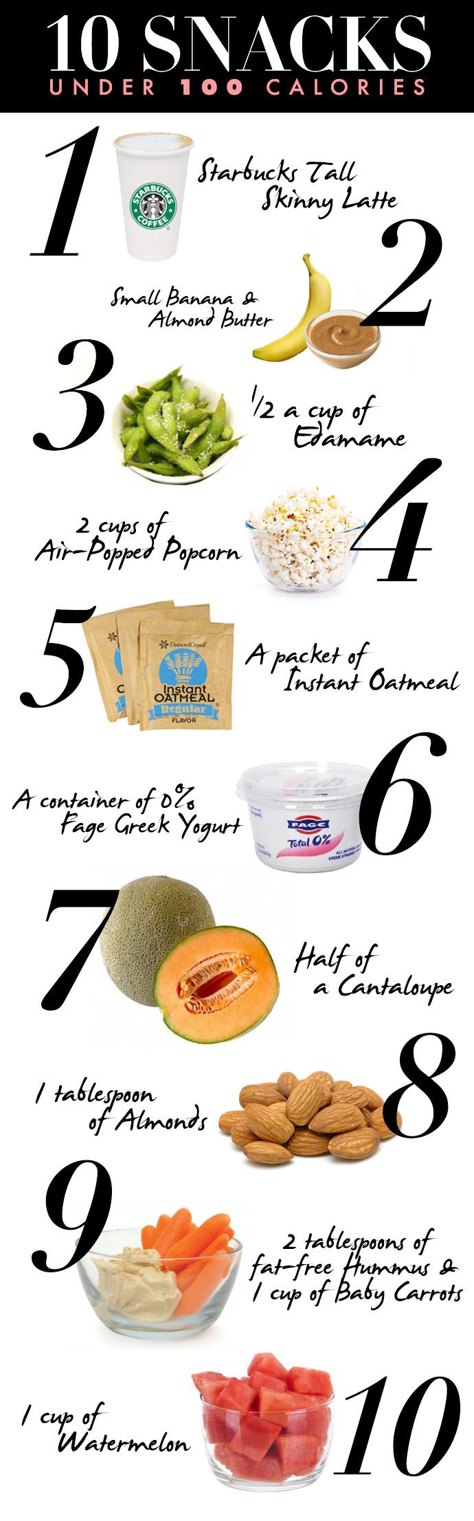 100 Calorie Snacks List  10 Healthy Snacks Under 100 Calories