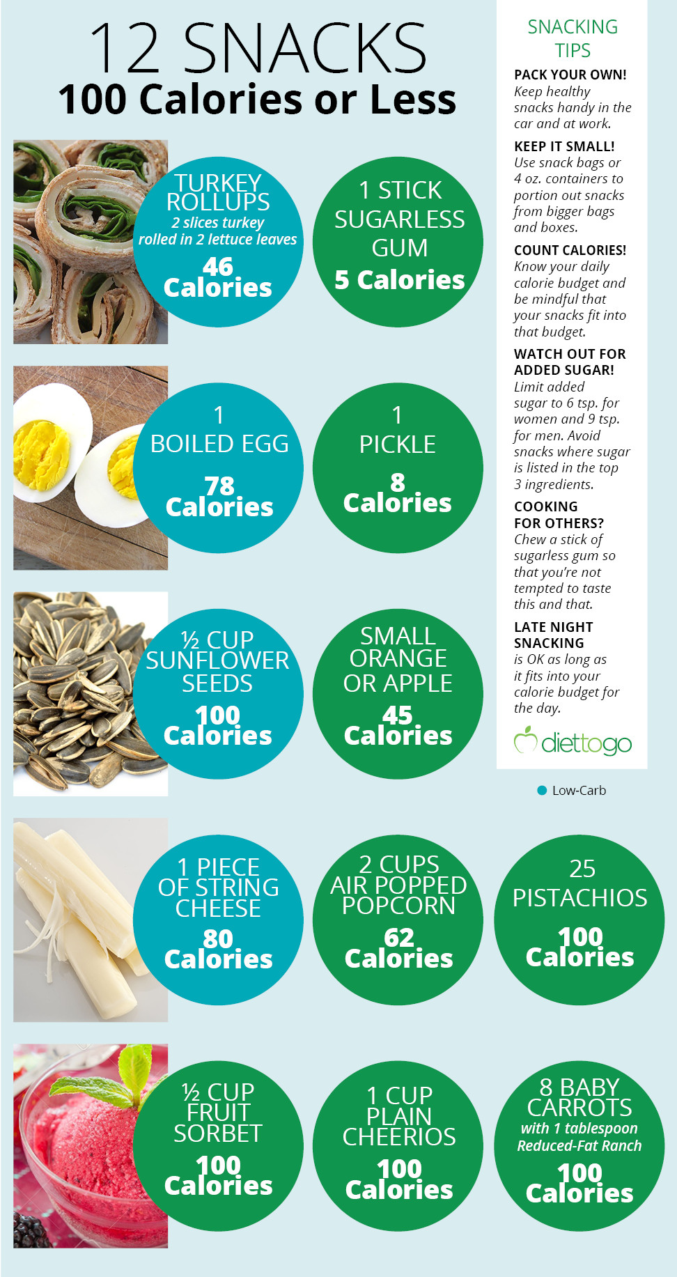 100 Calorie Snacks List  12 Healthy Snacks for 100 Calories or Less
