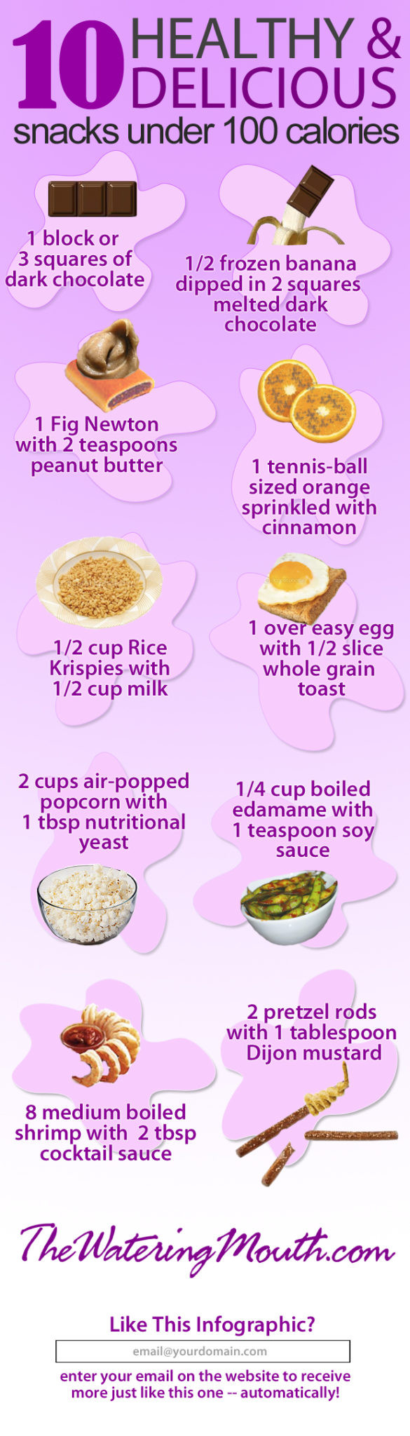 100 Calorie Snacks List  10 Healthy Snacks Under 100 Calories [ infographic] The
