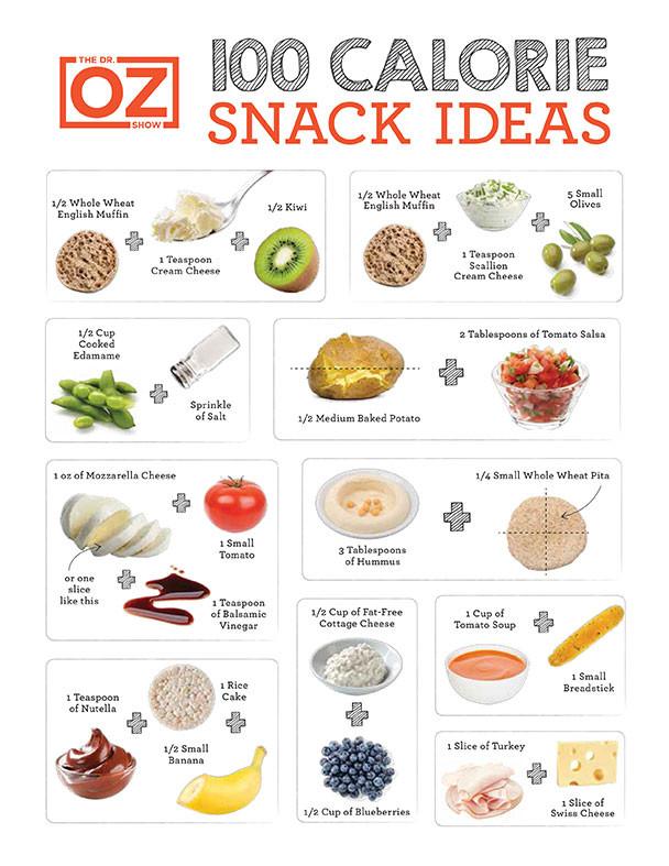 100 Calorie Snacks List  100 Calorie Snack Cheat Sheet