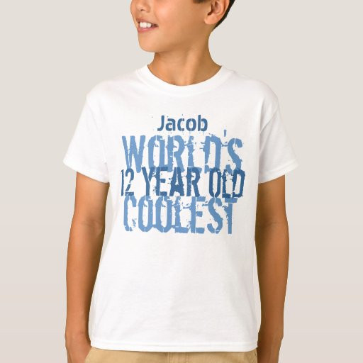 12 Year Old Boy Birthday Gifts  12th Birthday Gift World s Coolest 12 Year Old Boy T Shirt