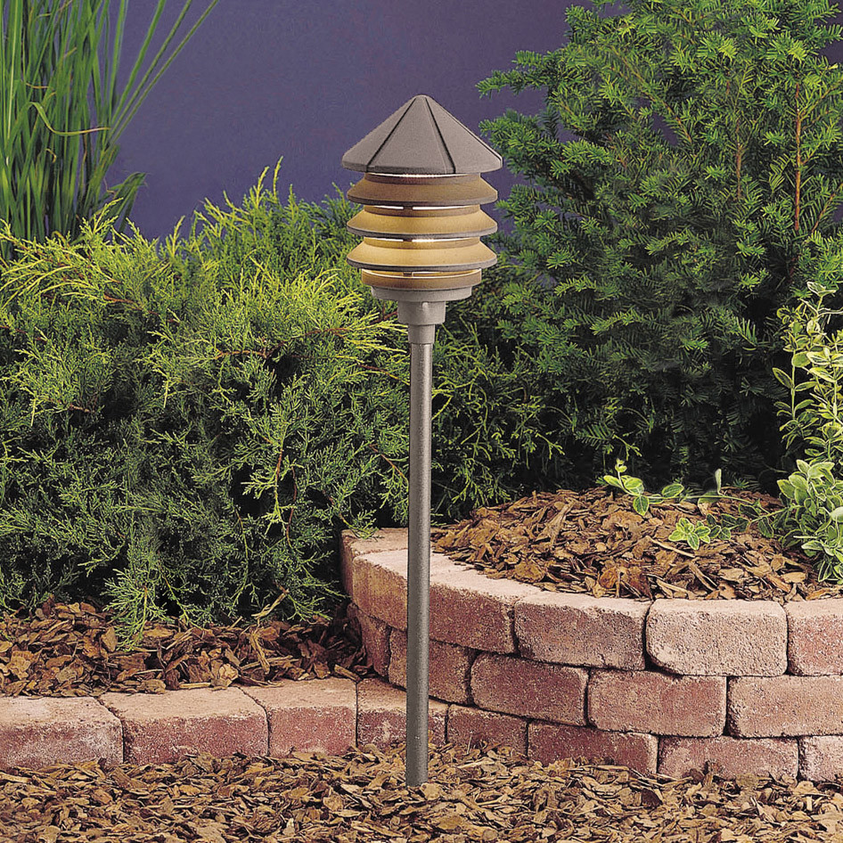 120V Landscape Lighting  Kichler AZT Six Groove 120V Three Tier Path & Spread