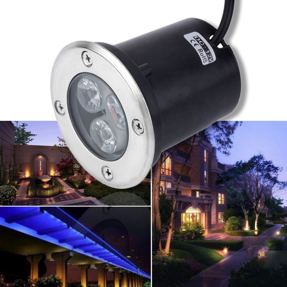 12V Landscape Lights  2017 new 3W LED Waterproof Outdoor In Ground Garden Path