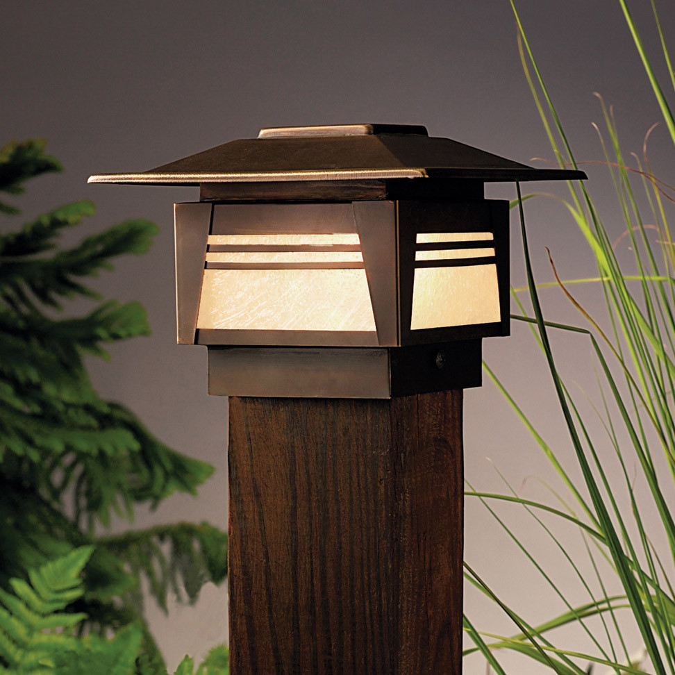 12V Landscape Lights  Kichler OZ Zen Garden 12V Deck Post Light