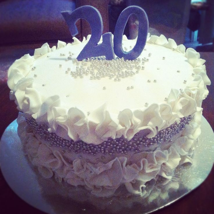 20 Birthday Cake  11 best images about 20th birthday on Pinterest