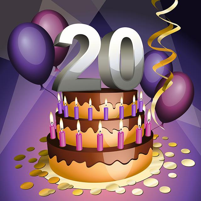 20 Birthday Cake  Happy 20th Birthday Yahoo
