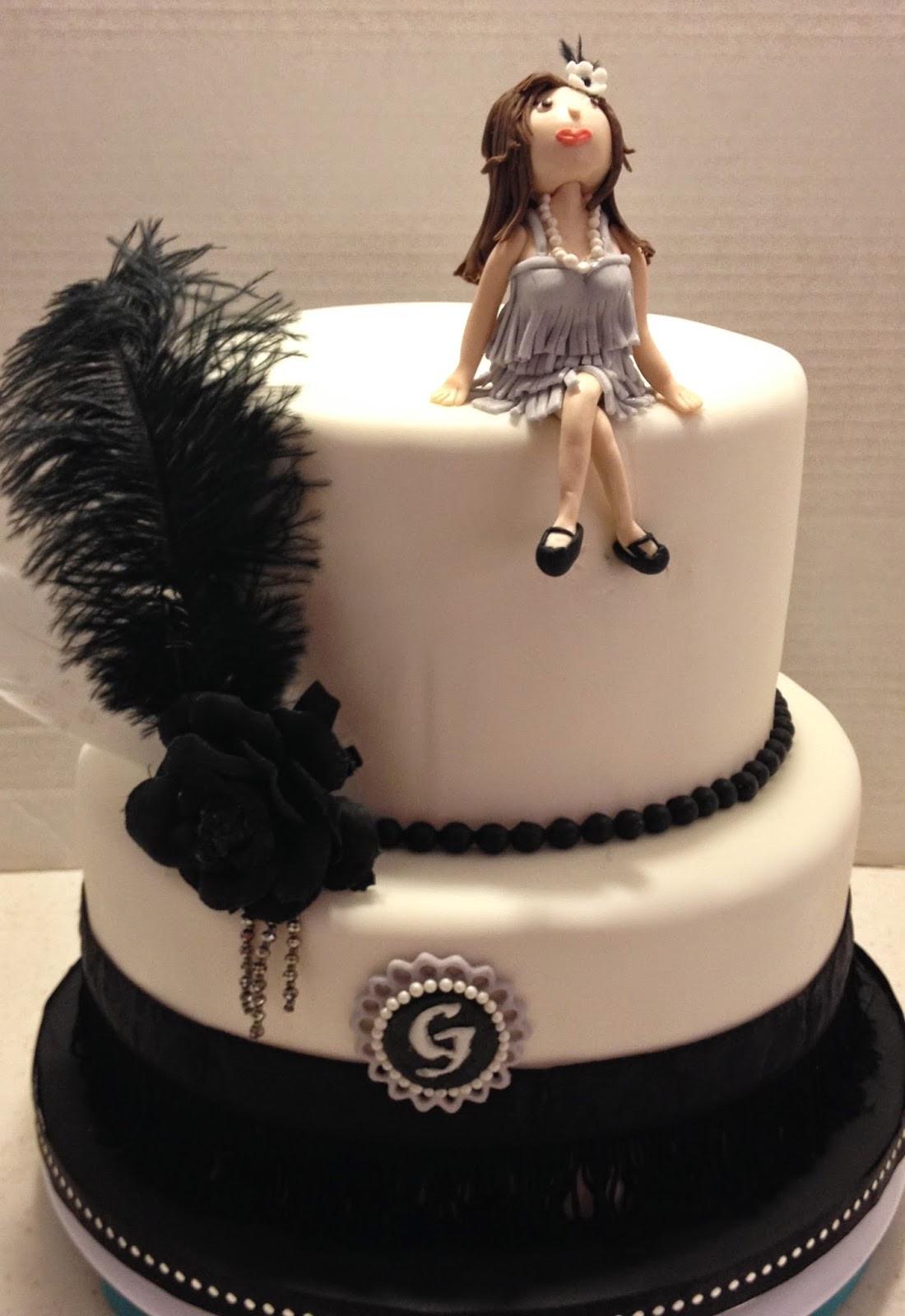 20 Birthday Cake  MaryMel Cakes A roaring 20 s Birthday