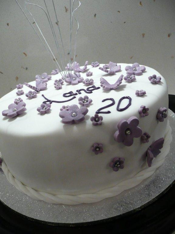 20 Birthday Cake  Taylor Made Baking Butterflies and Blossom Birthday Cake