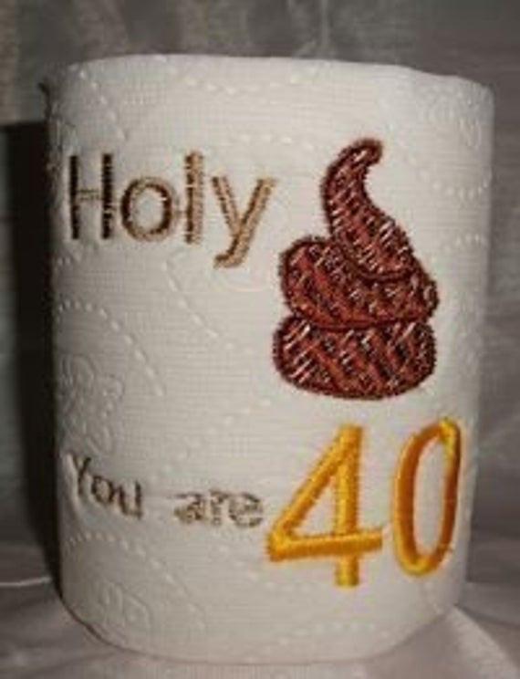 40Th Birthday Gag Gift Ideas  40th Birthday Gag Gift Funny Toilet paper