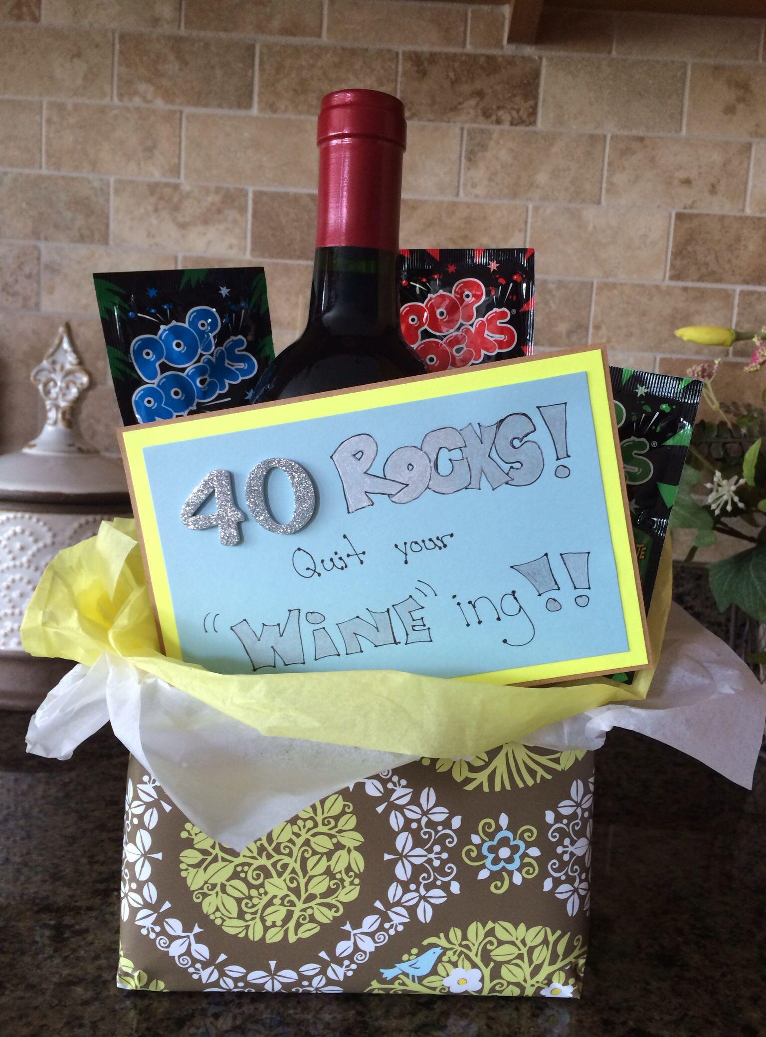 40Th Birthday Gag Gift Ideas  40th birthday t idea Creative t ideas