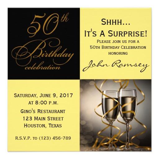 50th Birthday Invitation Wording  Surprise 50th Birthday Party Invitations Wording