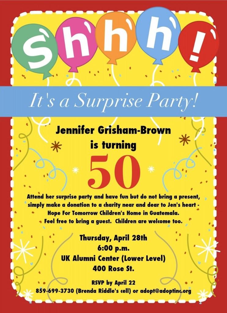 50th Birthday Invitation Wording  FREE 50th Birthday Party Invitations Wording – FREE
