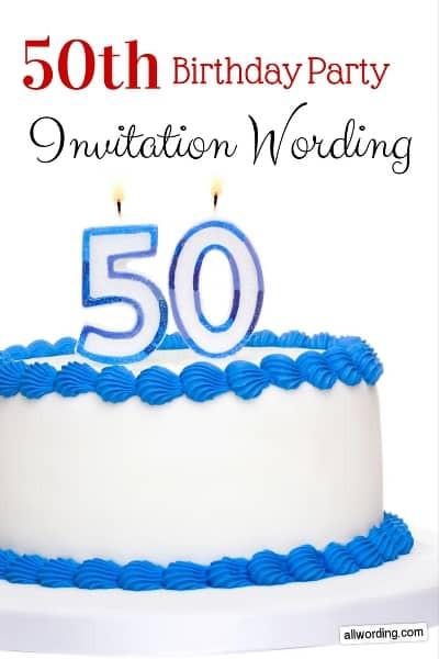50th Birthday Invitation Wording  50th Birthday Invitation Wording AllWording