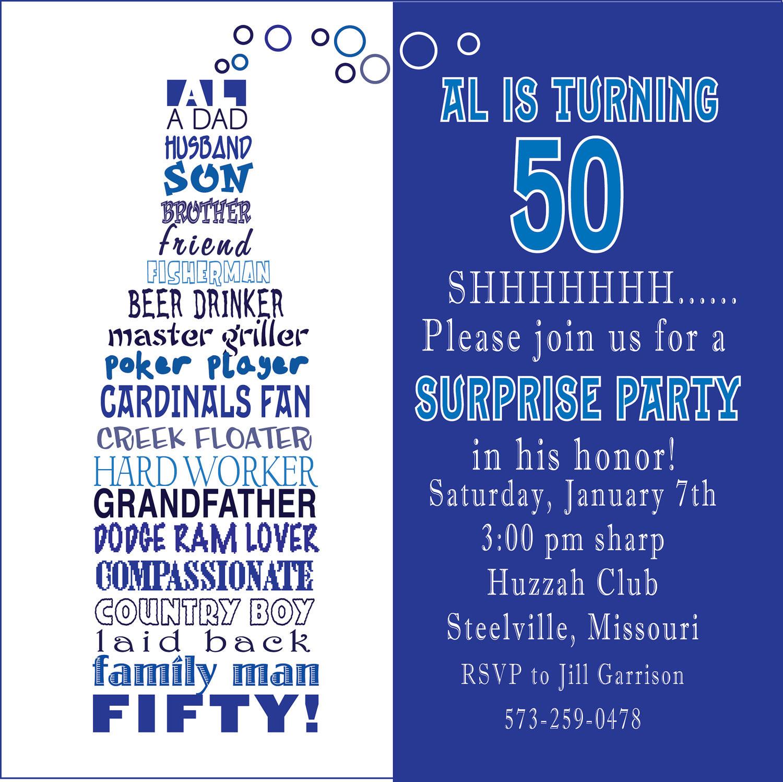 50th Birthday Invitation Wording  Funny 50th Birthday Party Invitation Wording