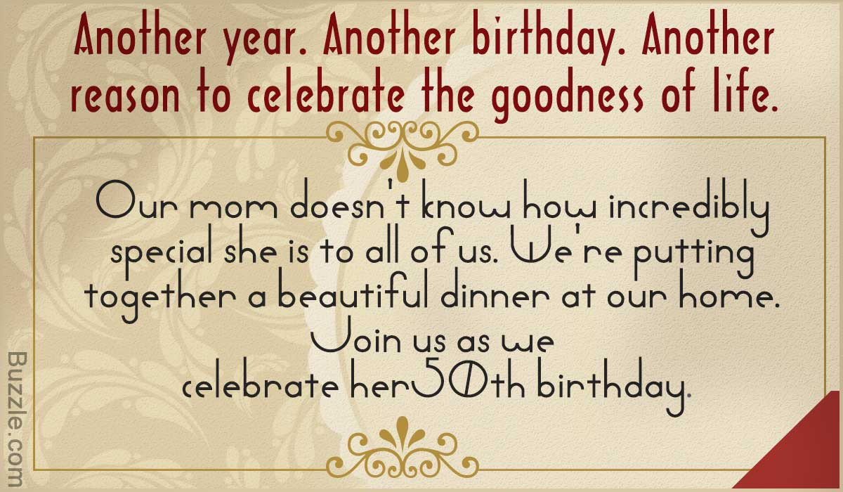 50th Birthday Invitation Wording  Inspiring 50th Birthday Party Invitation Wordings to