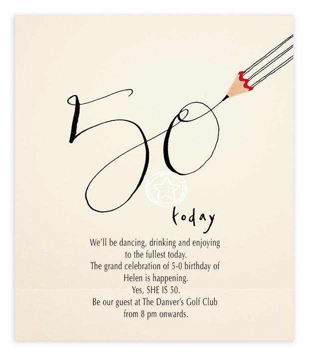 50th Birthday Invitation Wording  50th Birthday Invitation Wording Samples