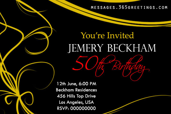 50th Birthday Invitation Wording  50th Birthday Invitations and 50th Birthday Invitation
