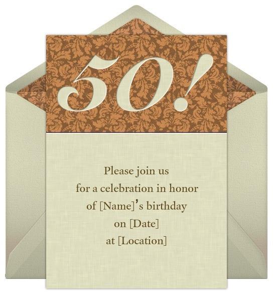 50th Birthday Invitation Wording  50th Birthday Invitation