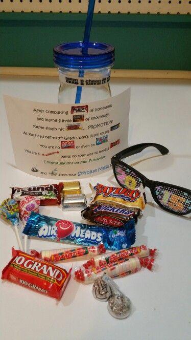 5Th Grade Graduation Gift Ideas For Boys  Elementary school graduation t for kids Candy poem