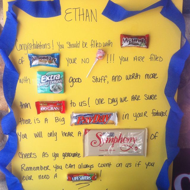 5Th Grade Graduation Gift Ideas For Boys  Graduation candy card
