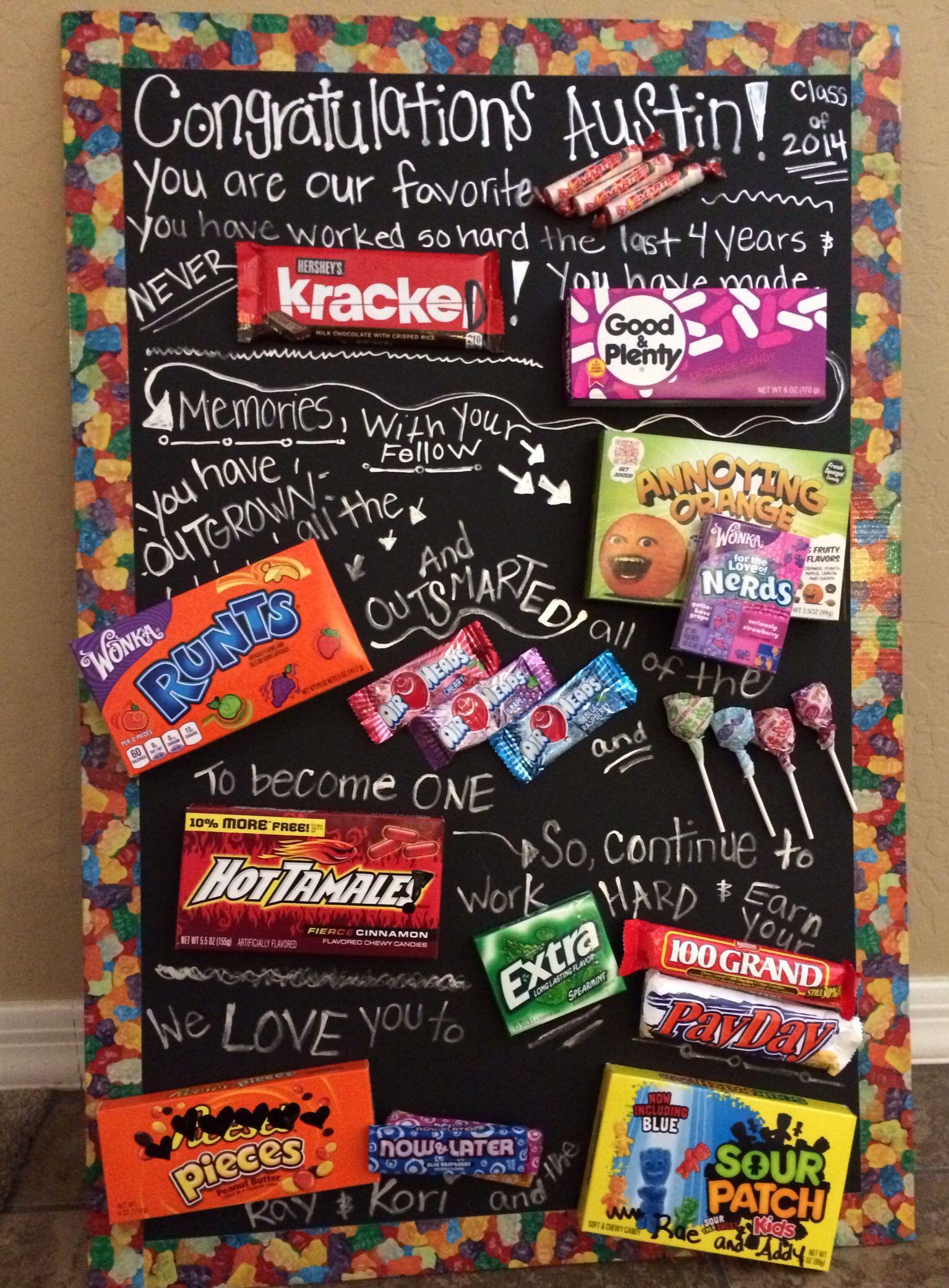 5Th Grade Graduation Gift Ideas For Boys  Graduation candy poem