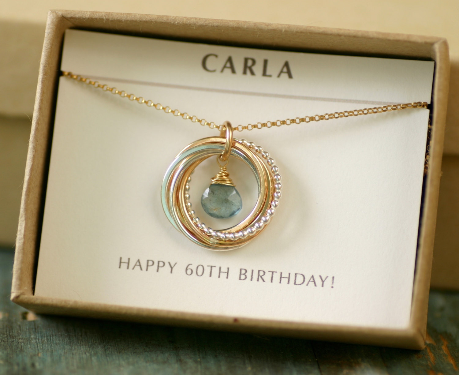 60Th Birthday Gift Ideas For.Women  60th birthday t for women aquamarine necklace for mom t