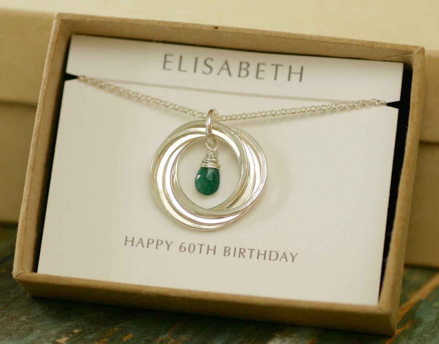60Th Birthday Gift Ideas For.Women  60th birthday t for mum t for women emerald necklace
