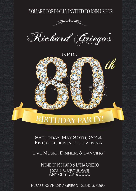 80th Birthday Invitation Wording  Invitation for 80th Birthday Party Inspirational 80th
