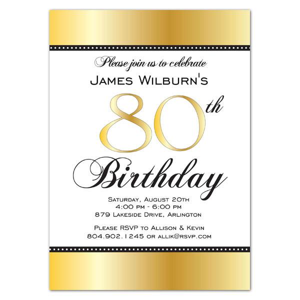 80th Birthday Invitation Wording  Golden Celebration 80th Birthday Invitations