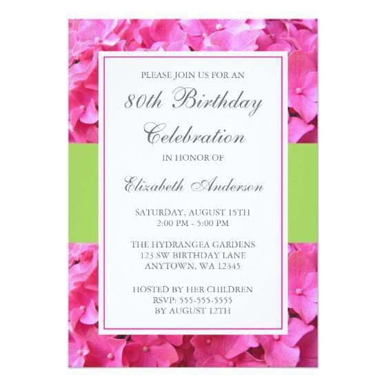 80th Birthday Invitation Wording  80th Birthday Invitation Wording Templates
