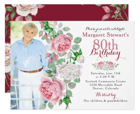 80th Birthday Invitation Wording  80th Birthday Invitations 30 Best Invites for an 80th