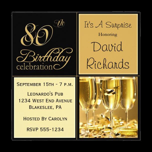 80th Birthday Invitation Wording  Free Printable 80th Birthday Invitations