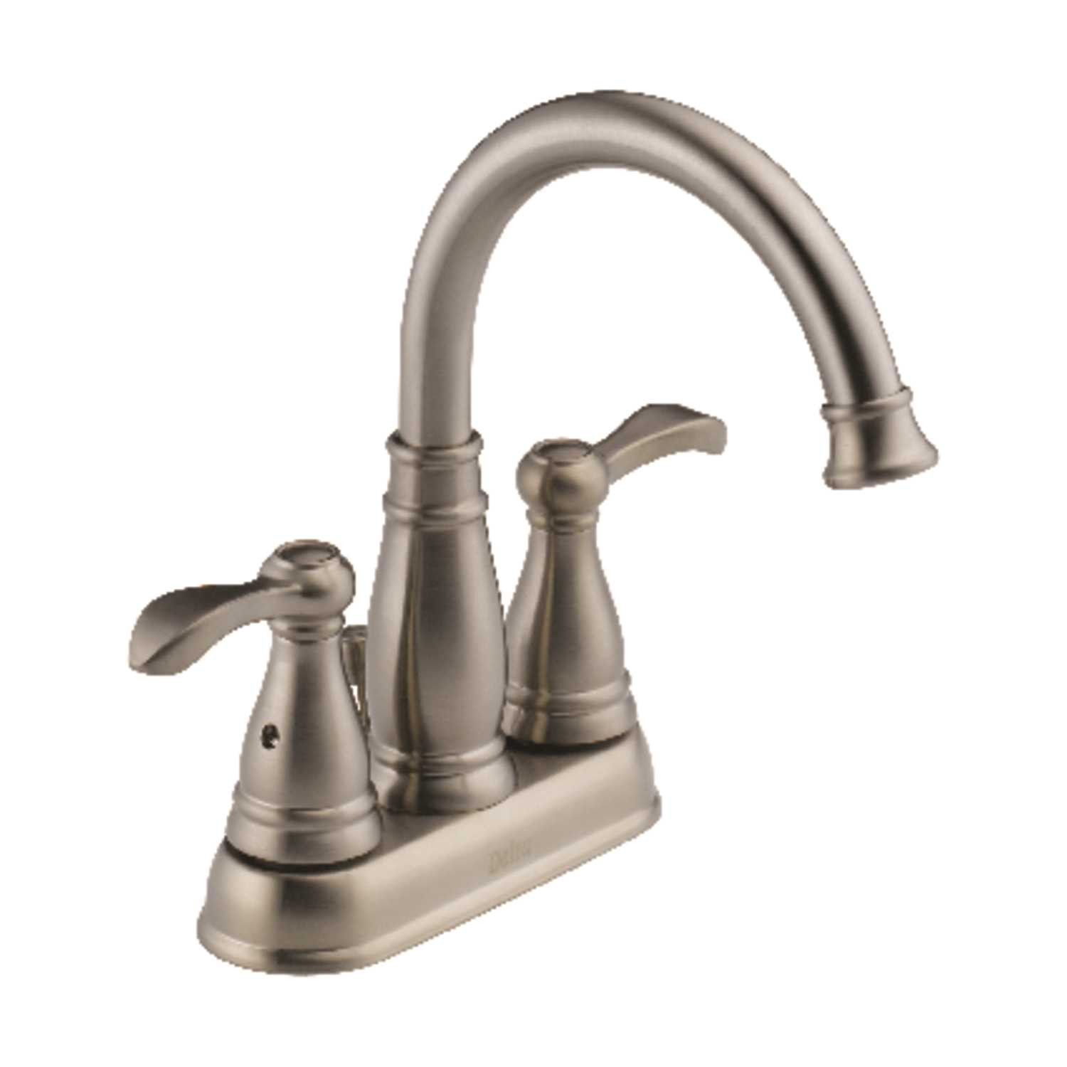 Ace Hardware Bathroom Faucets  Delta Porter Two Handle Lavatory Faucet 4 in Brushed