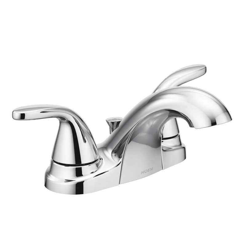 Ace Hardware Bathroom Faucets  Moen Adler Two Handle Lavatory Faucet 4 in Chrome Ace