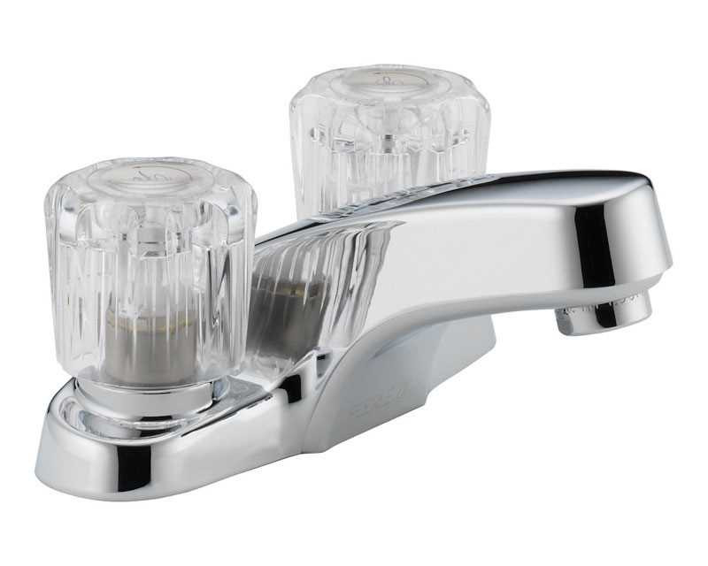 Ace Hardware Bathroom Faucets  Peerless Washerless Two Handle Lavatory Faucet 4 in
