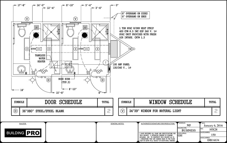 Ada Bathroom Layout With Shower  Floor Plans for Portable Modular Restrooms & Showers and