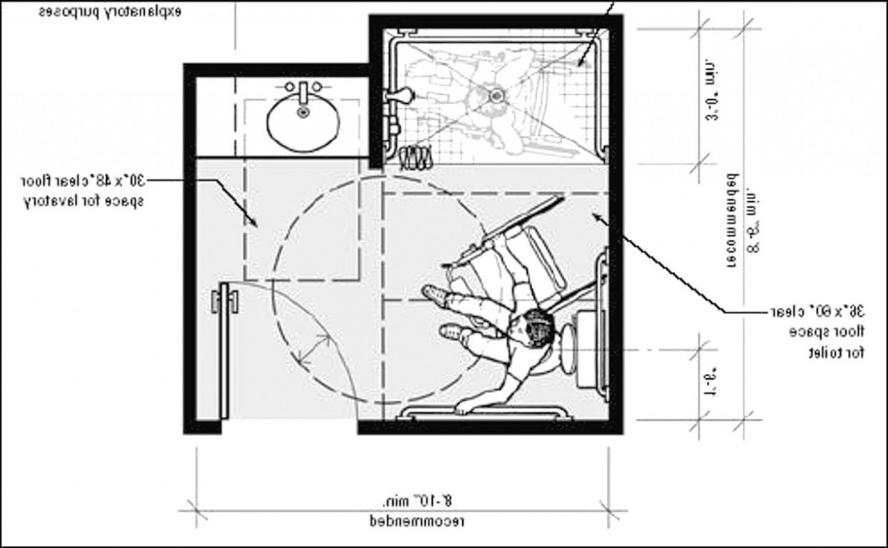 Ada Bathroom Layout With Shower  Bathroom Tiles For Small Bathrooms Tile Shower
