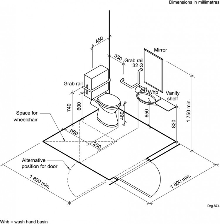 Ada Bathroom Layout With Shower  Bathroom Handicap Bathroom Dimensions With Easy Guide To