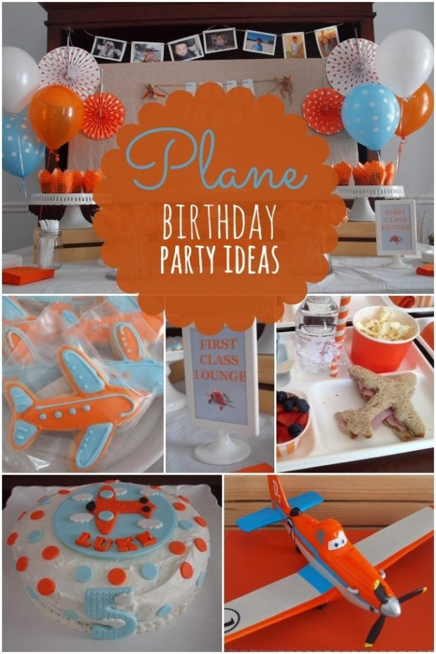 Airplane Birthday Party Ideas  Boy s Plane Themed Birthday Party Ideas Spaceships and