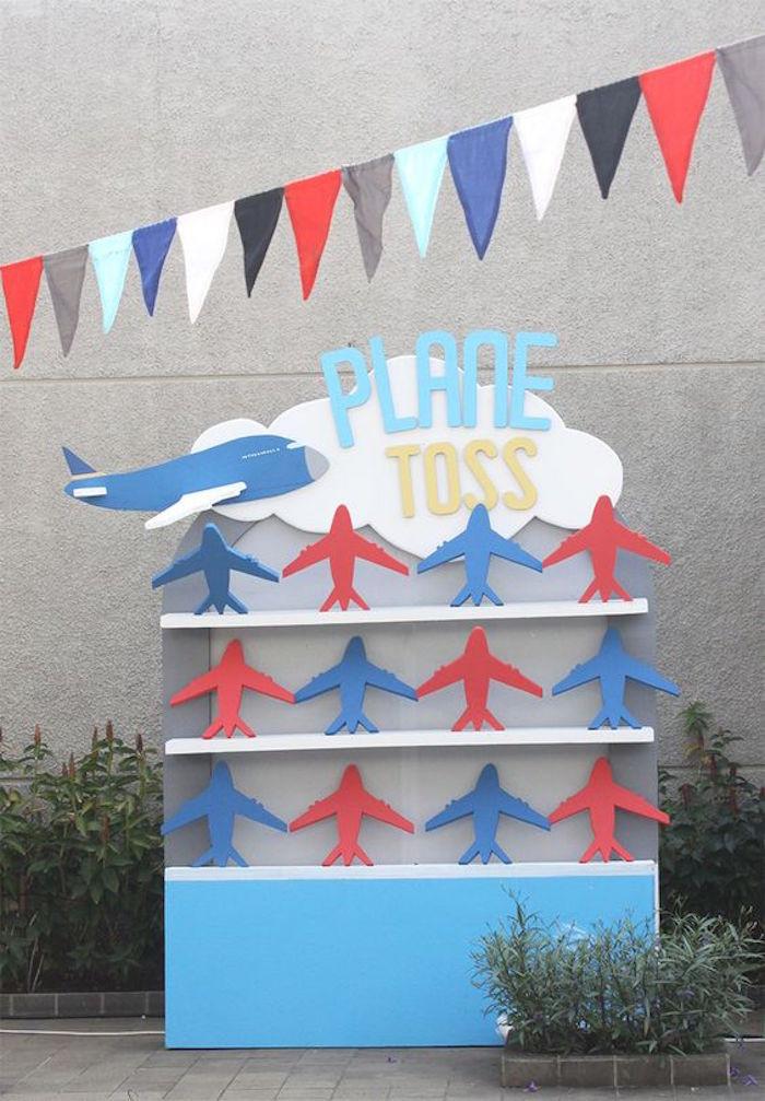 Airplane Birthday Party Ideas  Kara s Party Ideas Airplane 5th Birthday Party