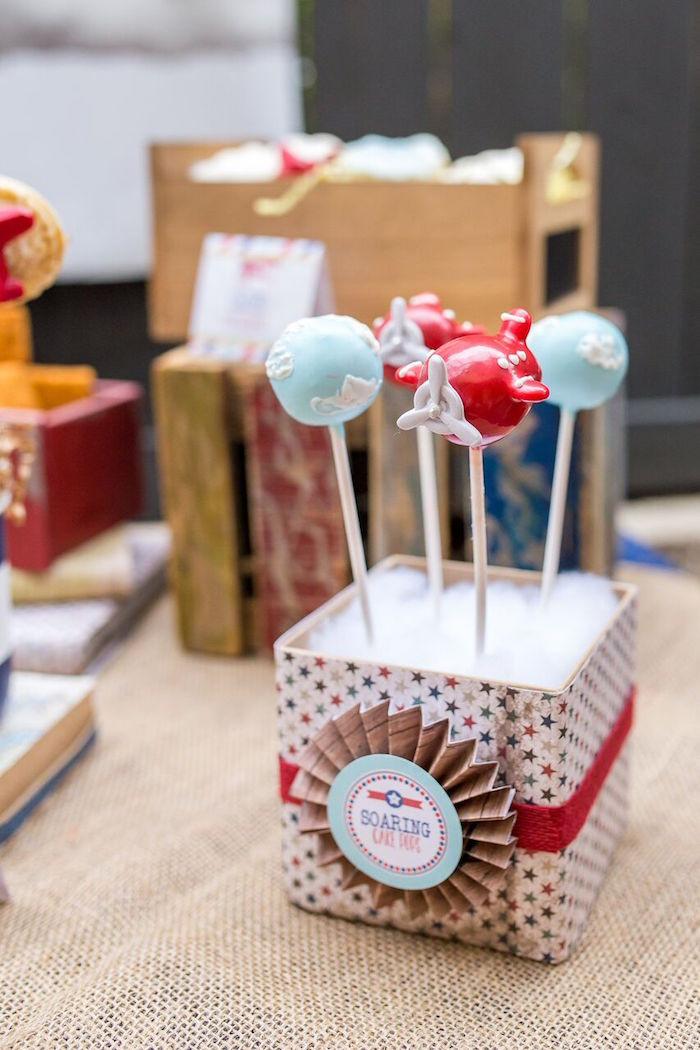 Airplane Birthday Party Ideas  Kara s Party Ideas Vintage Airplane Birthday Party