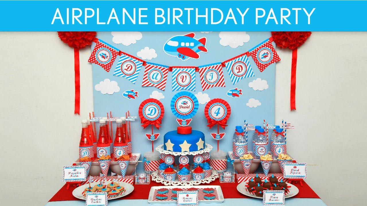 Airplane Birthday Party Ideas  Airplane Birthday Party Ideas Airplane B33