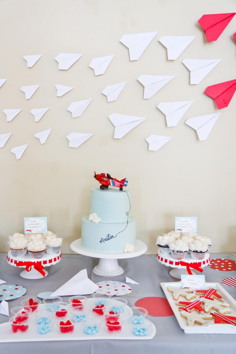 Airplane Birthday Party Ideas  Austin s 4th Airplane Birthday Party