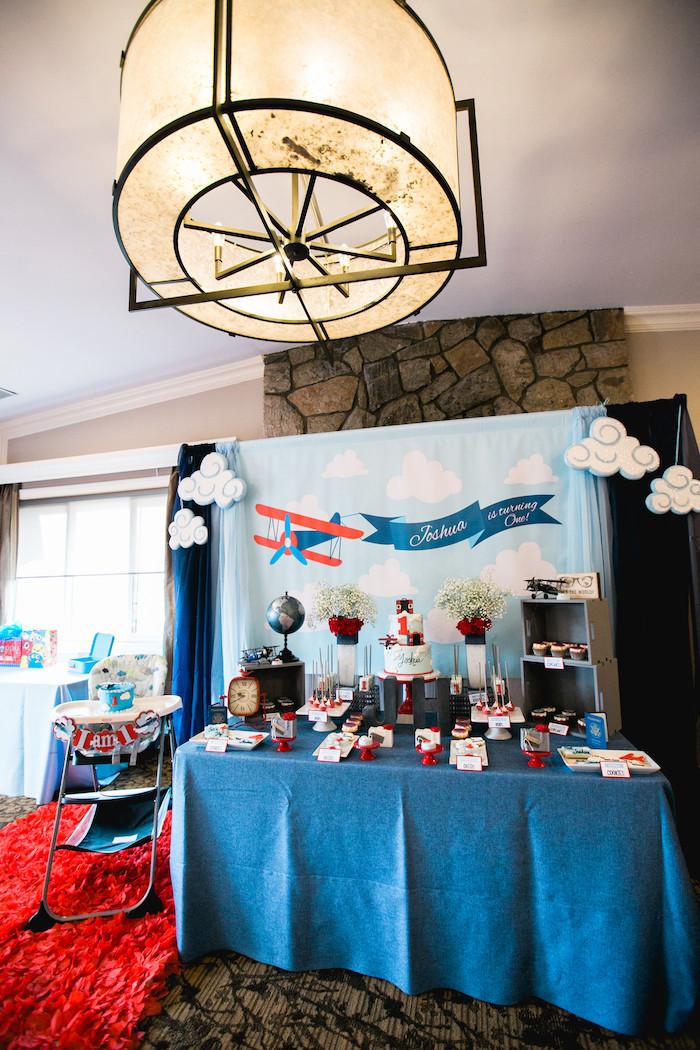 """Airplane Birthday Party Ideas  Kara s Party Ideas """"Time Flies"""" Airplane Birthday Party"""