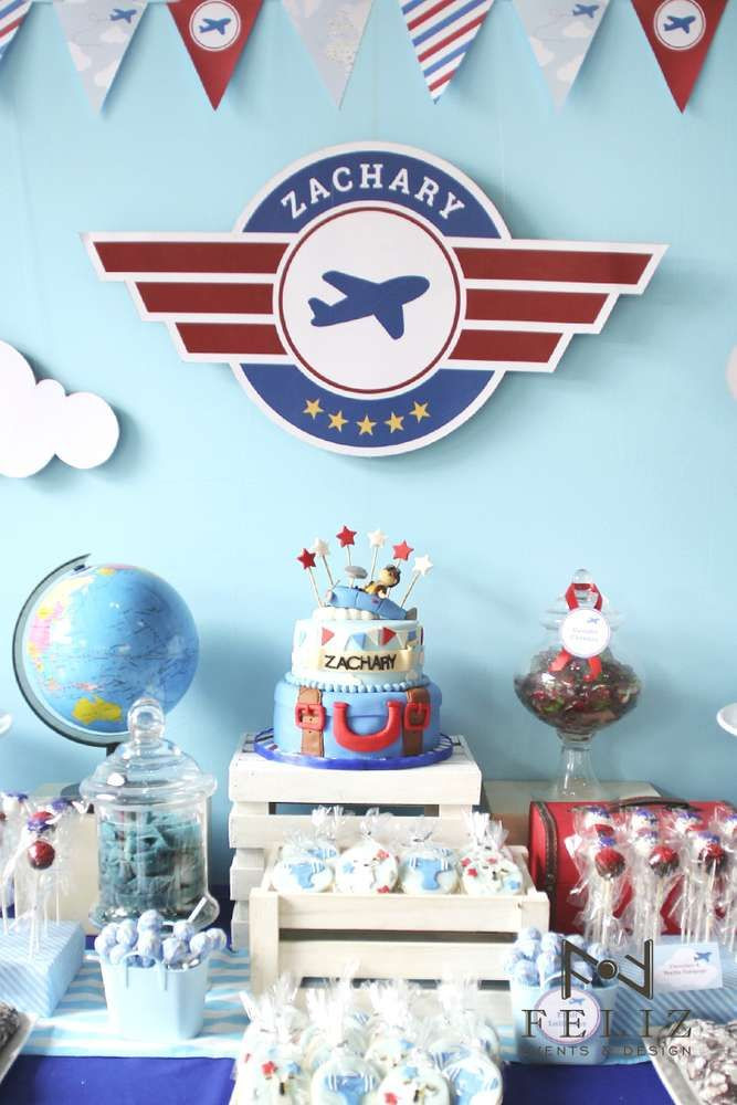 Airplane Birthday Party Ideas  Awesome airplane birthday party See more party ideas at