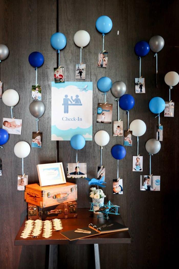 Airplane Birthday Party Ideas  Kara s Party Ideas Airplane Birthday Party Planning Ideas