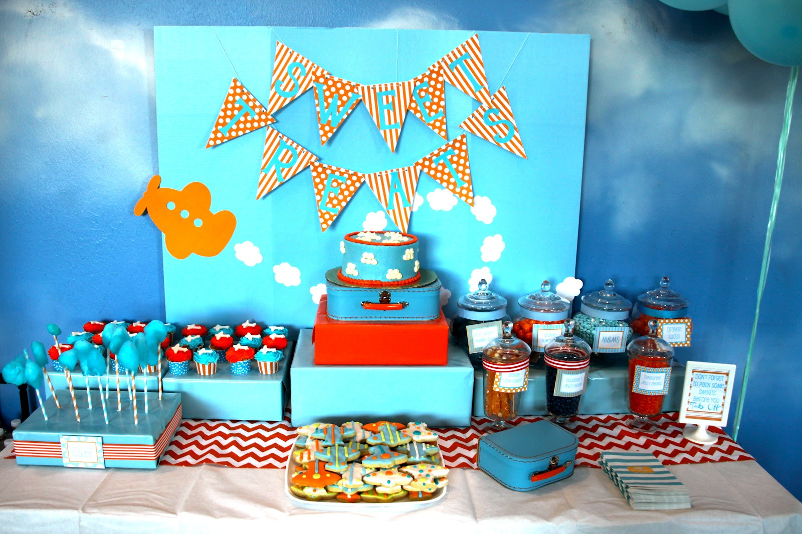 Airplane Birthday Party Ideas  Daily Dimples Airplane Party Details
