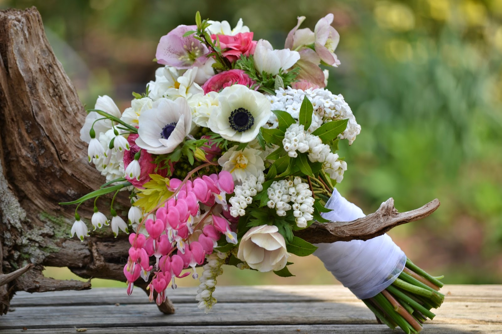 April Wedding Flowers  Wedding Flowers from Springwell Romantic Bleeding Heart