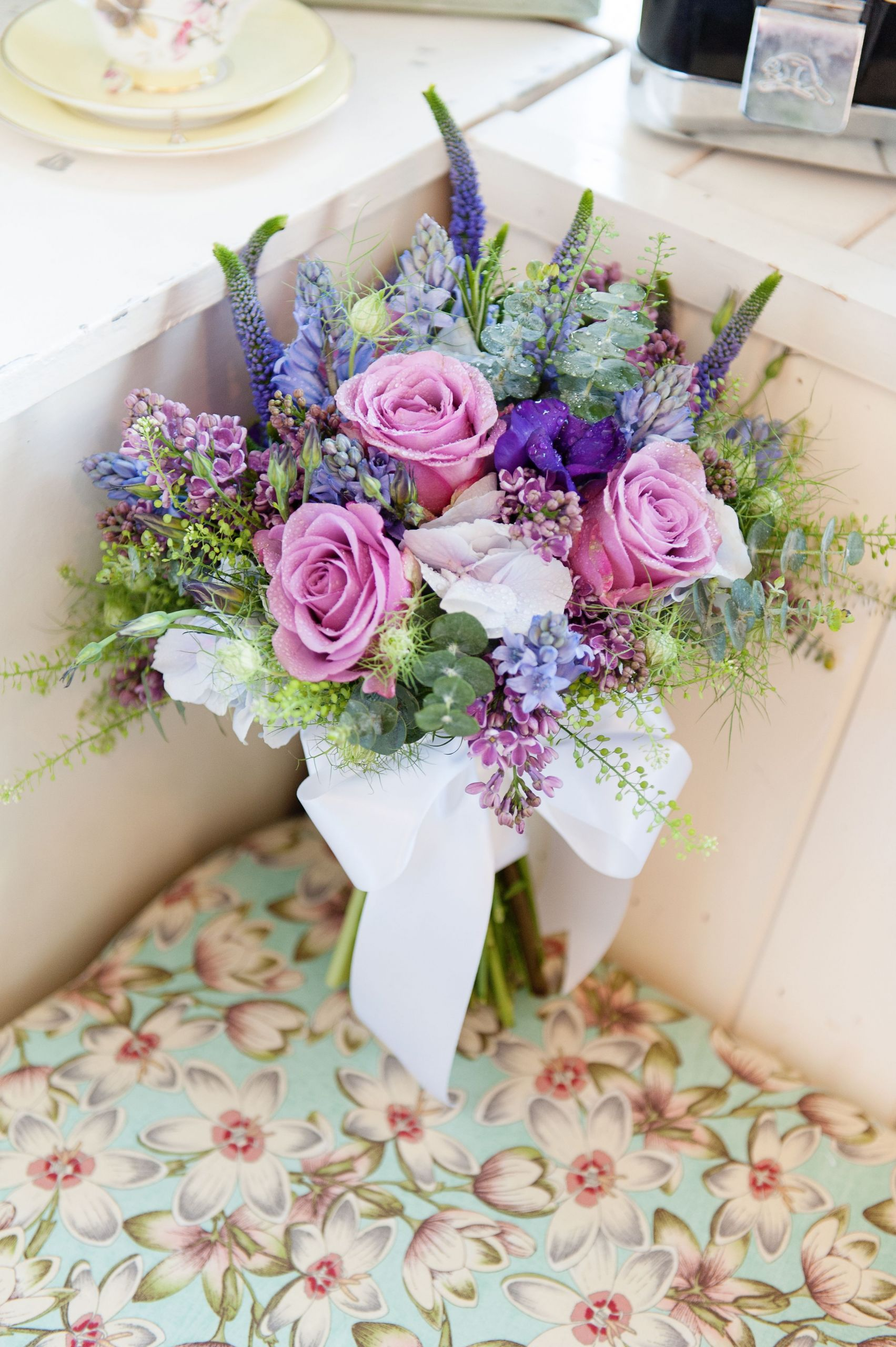 April Wedding Flowers  April wedding bouquet pinks lilacs purples