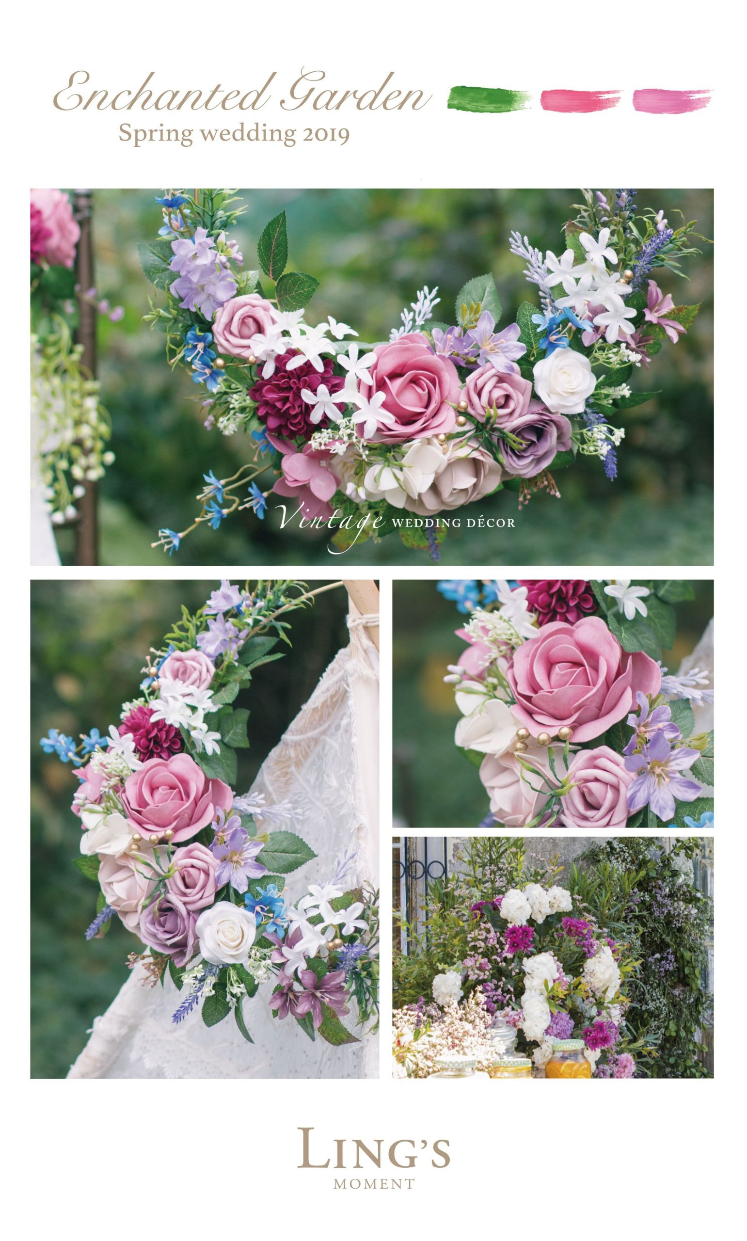 April Wedding Flowers  Spring Summer 2019 Wedding Flowers 40 Colors Rose Peony